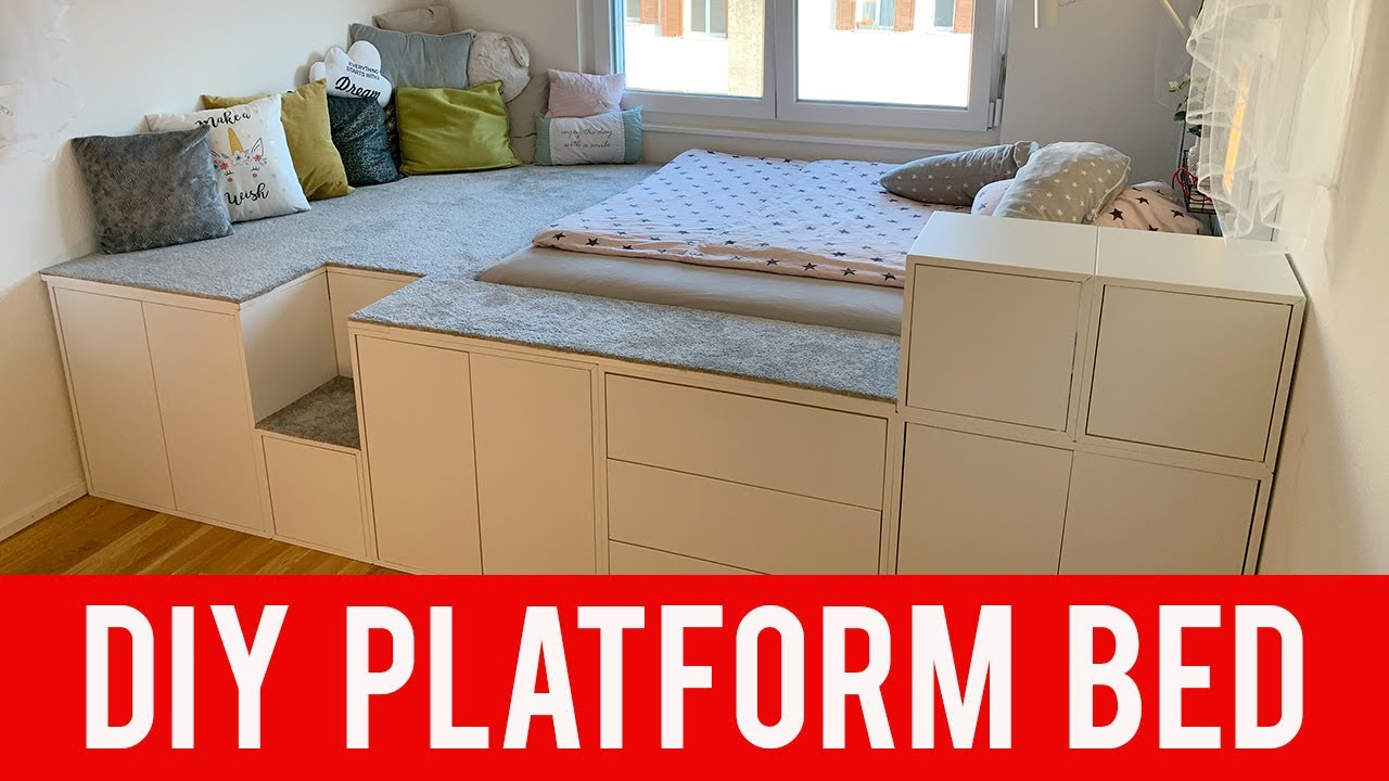 Ikea Diy Hack Platform Bed Youtube
