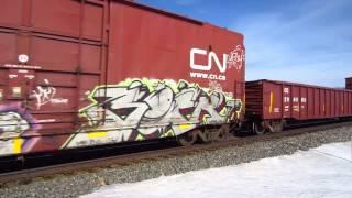 CN 8941, CN 8905, CN 5681, CSX 8814, KCS 4008 headed West