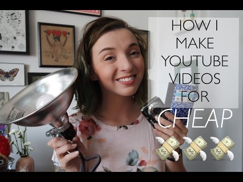 How I make YouTube videos on the cheap!