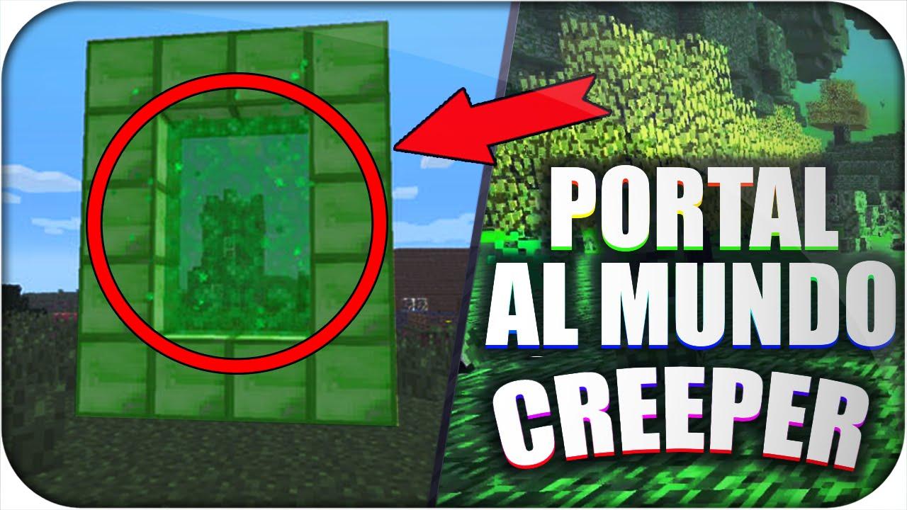 COMO HACER PORTAL AL MUNDO CREEPER EN MINECRAFT PE 0.15.0 SIN MODS ...