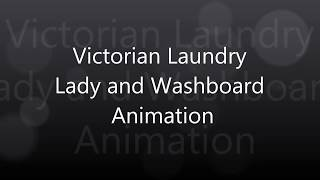 Washboard Laundry Lady  - Downblouse Cleavage simulation