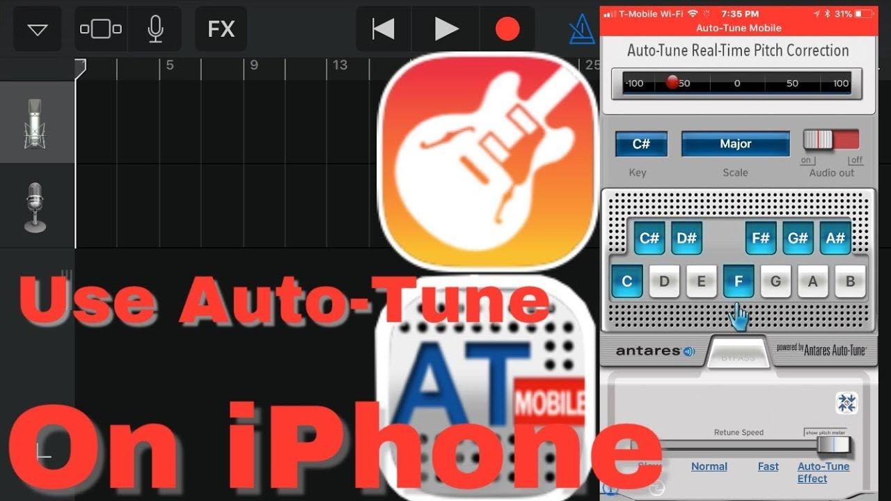 How to Use Auto-Tune with GarageBand on an iPhone