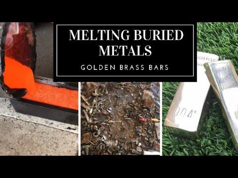 Trash To Treasure Dug Up Scrap Metal To Golden Brass Bullion