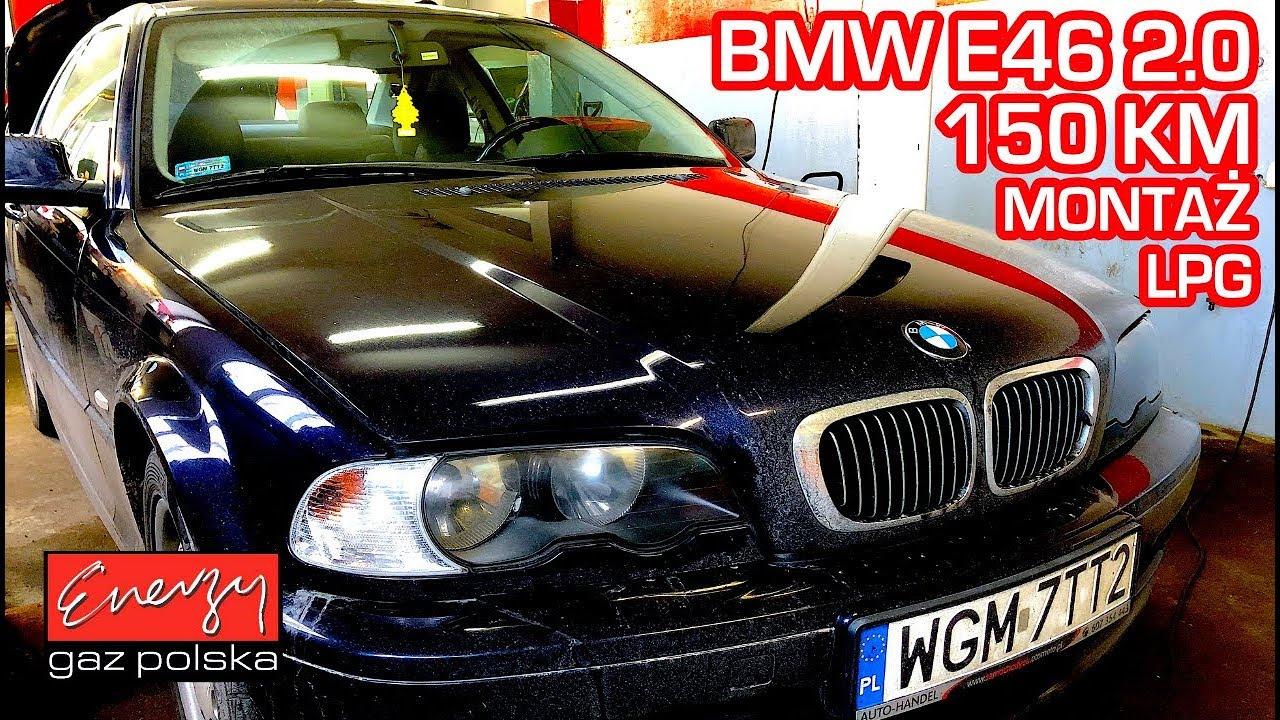 Montaż LPG BMW 320 E46 z 2.0 150 KM 2000r w Energy Gaz Polska na gaz STAG-QMAX