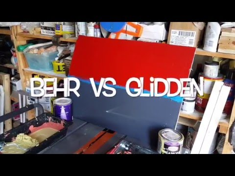 Behr Marqee vs Glidden Diamond - YouTube