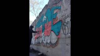 The Smurfs graffiti dkw crew 2016