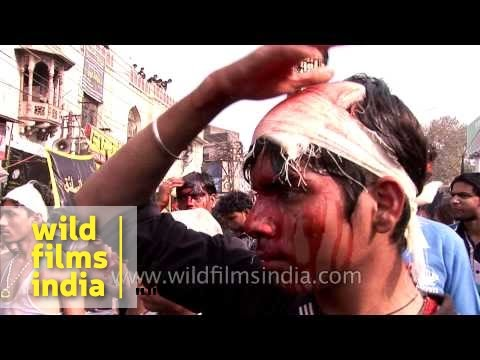 Mourners attend Muharram procession in Delhi