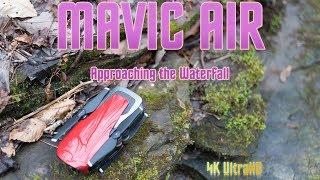 DJI Mavic Air Approaching Waterfall via Drone