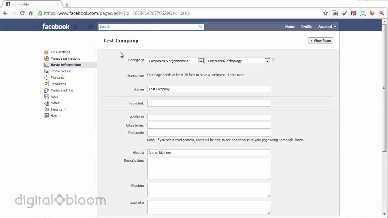 Facebook Tutorial: Add Basic Information to Your Business Facebook Page