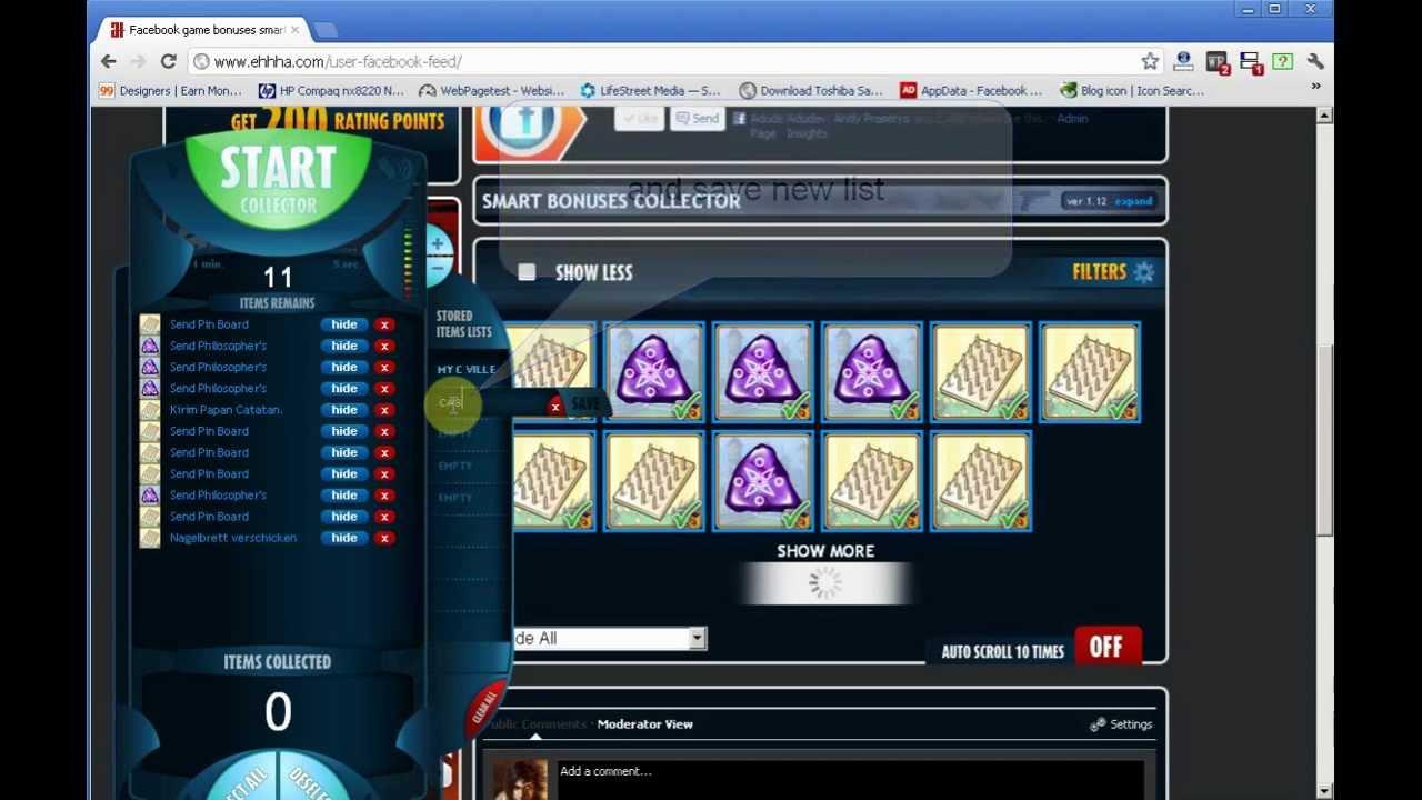 facebook auto collect games bonuses