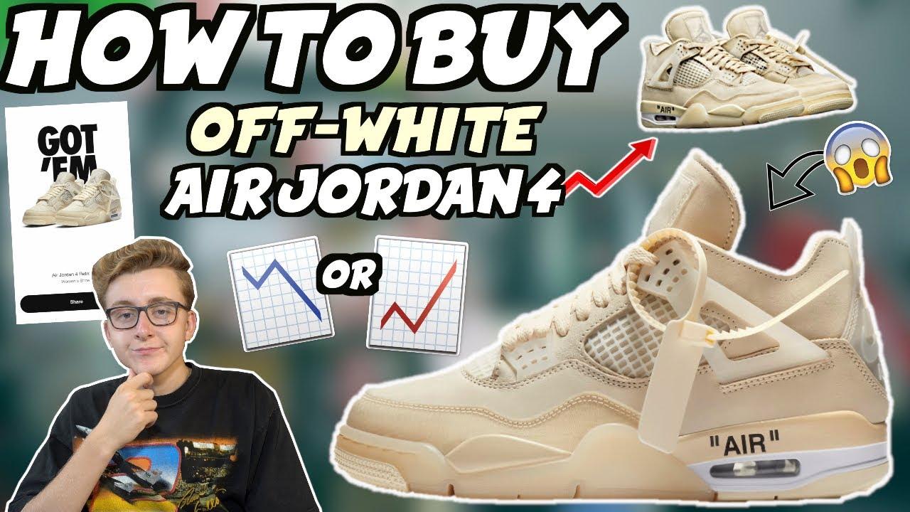 BUY Off-White x Nike Air Jordan 4 \