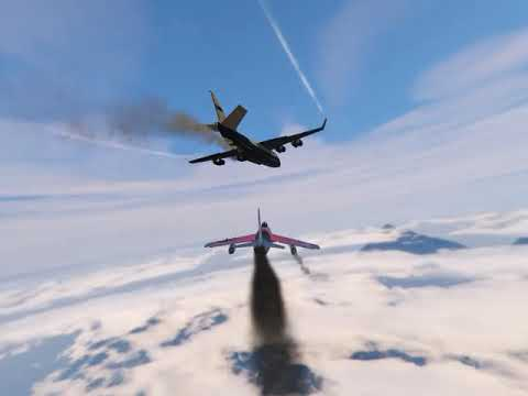GTA5 Attacking Merryweather Cargo Planes