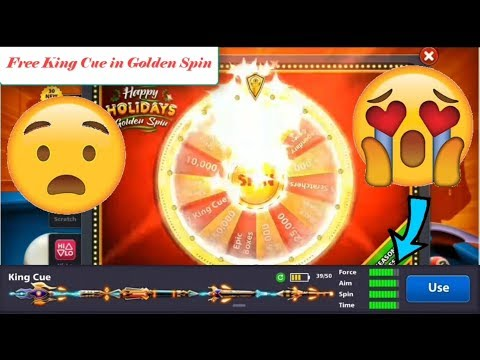Free King Cue in Golden Spin Miniclip 8 ball pool