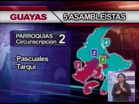 Guayas dividida en 4 circunscripciones para las elecciones