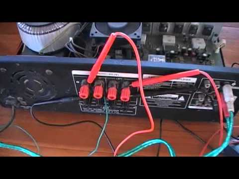 วิธีการซ่อมเครื่องขยายเสียง (ปฏิบัติ 1 )