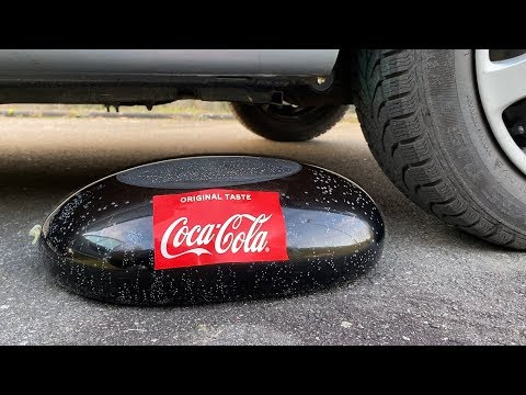 EXPERIMENT: Car Vs Coca Cola In Condom - Crushing Crunchy & Soft Things By Car!