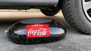 Crushing Crunchy & Soft Things by Car! - EXPERIMENT: Car vs Coca Cola in Condom