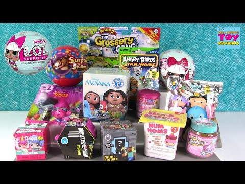 LOL Surprise Doll Trolls Disney Moana Shopkins Blind Bag Opening | PSToyReviews