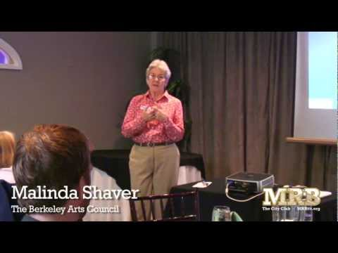 April City Club Meeting, Guest Speaker Malinda Shaver, Berkeley Arts Council