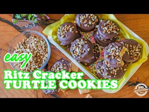 Easy Ritz Crackers Turtle Cookies