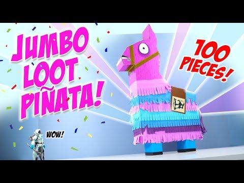 Fortnite Toys Jumbo Loot Piñata Llama Opening Jazwares
