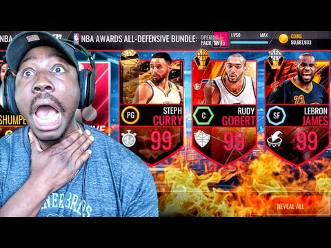 OMG 99 OVR PULL IN ALL-DEFENSIVE PACK OPENING! NBA Live Mobile 16 Gameplay Ep. 133