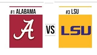 Week 10 2018 #1 Alabama vs #3 LSU Full Game Highlights