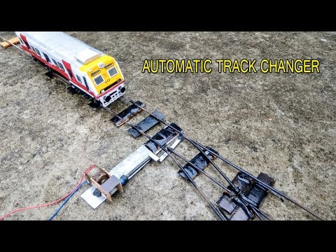 How To Make Train Track | Automatic Track Changer | Indian Train Model