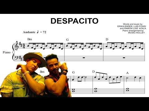 Luis Fonsi - Despacito (EASY piano sheet music)