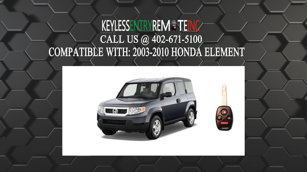 How To Replace Honda Element Key Fob Battery 2003 2004 2005 2006 2007 2008  2009 2010