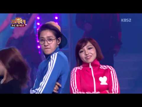 B1A4,Girl's Day,Miss A,Teen Top,4minute,Secret   Again K POP @ 2013 KBS Gayo Daejun HD