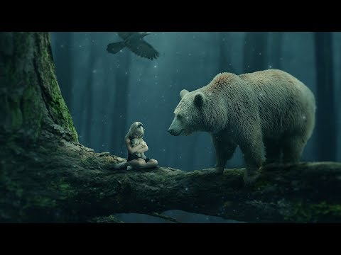Girl And The Bear Photo Manipulation Photoshop Tutorial