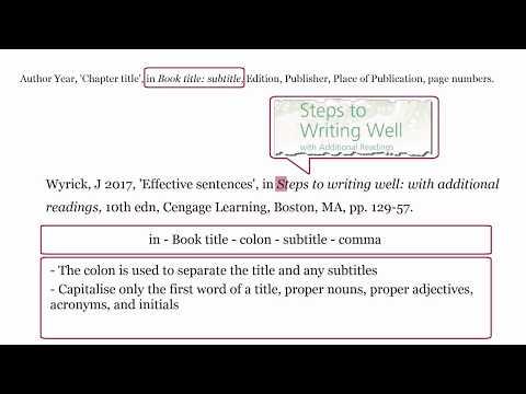 Harvard WesternSydU - Referencing A BOOK CHAPTER