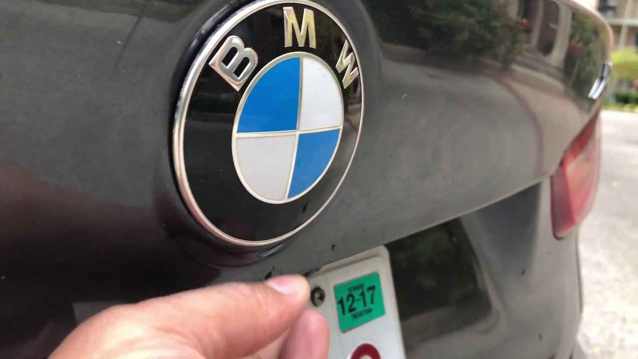 BMW X1 X2 X3 X4 X5 X6 - HOW TO ACCESS THE TRUNK FROM OUTSIDE OF THE CAR -  HOW TO