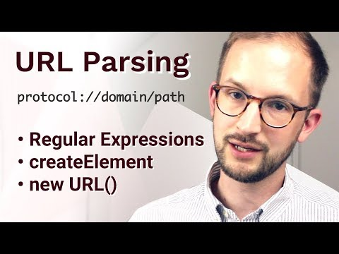 URL Parsing with RegEx, createElement and new URL()