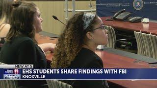 Elizabethton High School students present findings on Redhead murders to FBI