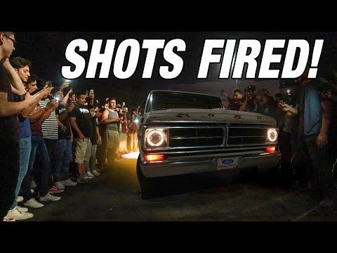 My F100 SHUTS DOWN AN IMPORT MEET!!! *CRAZY FIRE*