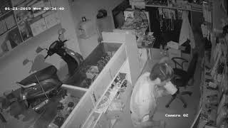 Mobile shop robbery..waling syangja cctv footage