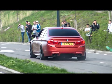 Modified BMW M5 F10 With Custom Exhaust - LOUD Accelerations, Burnout \u0026 Revs !
