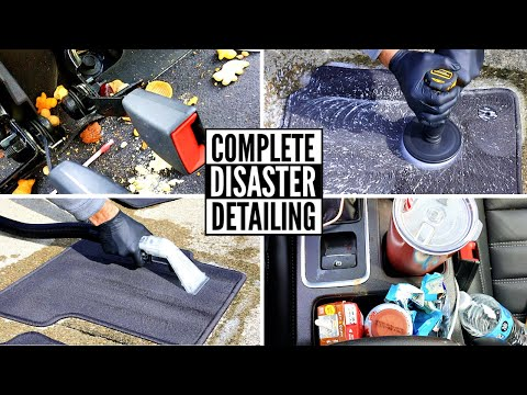 Complete Disaster Full Interior Car Detailing Transformation! Dirtiest Car Detailing Series Ep. 16