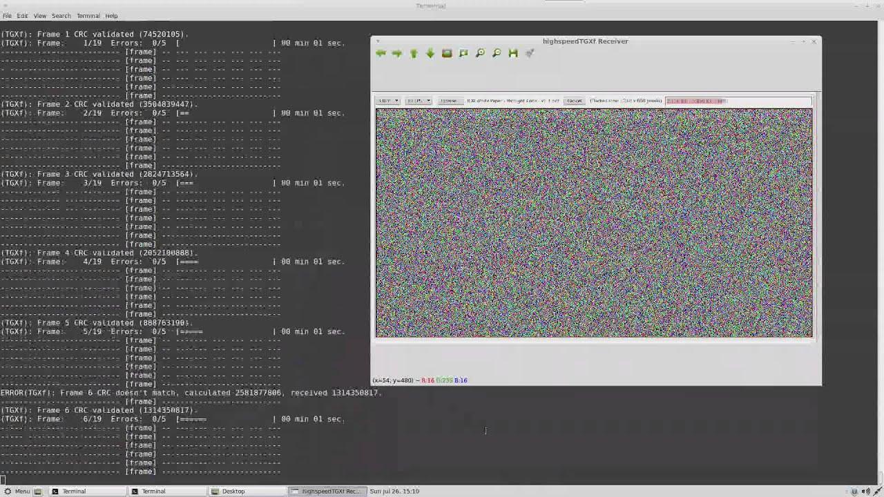 12 1Mbps highspeedTGXf download decode in Linux