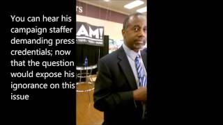 Muslims 4 Liberty-TN confronts Carson on anti Islam rhetoric