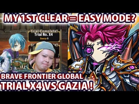 Brave Frontier Global Trial X4 VS Gazia My 1st Clear Easy Mode?