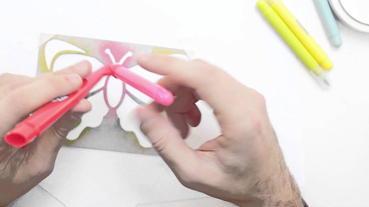 Pennarelli da soffiare colori per dipingere sulla pelle for Aerografo crayola amazon