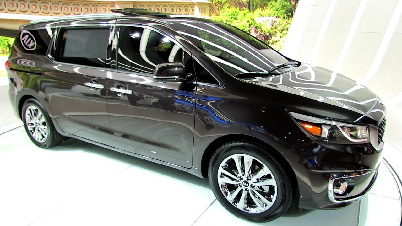 2017 Kia Sedona Sxl Exterior And Interior Walkaround Debut At New York Auto Show You