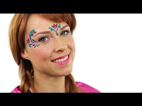 Anna Frozen Makeup Tutorial - Frozen Face Paint