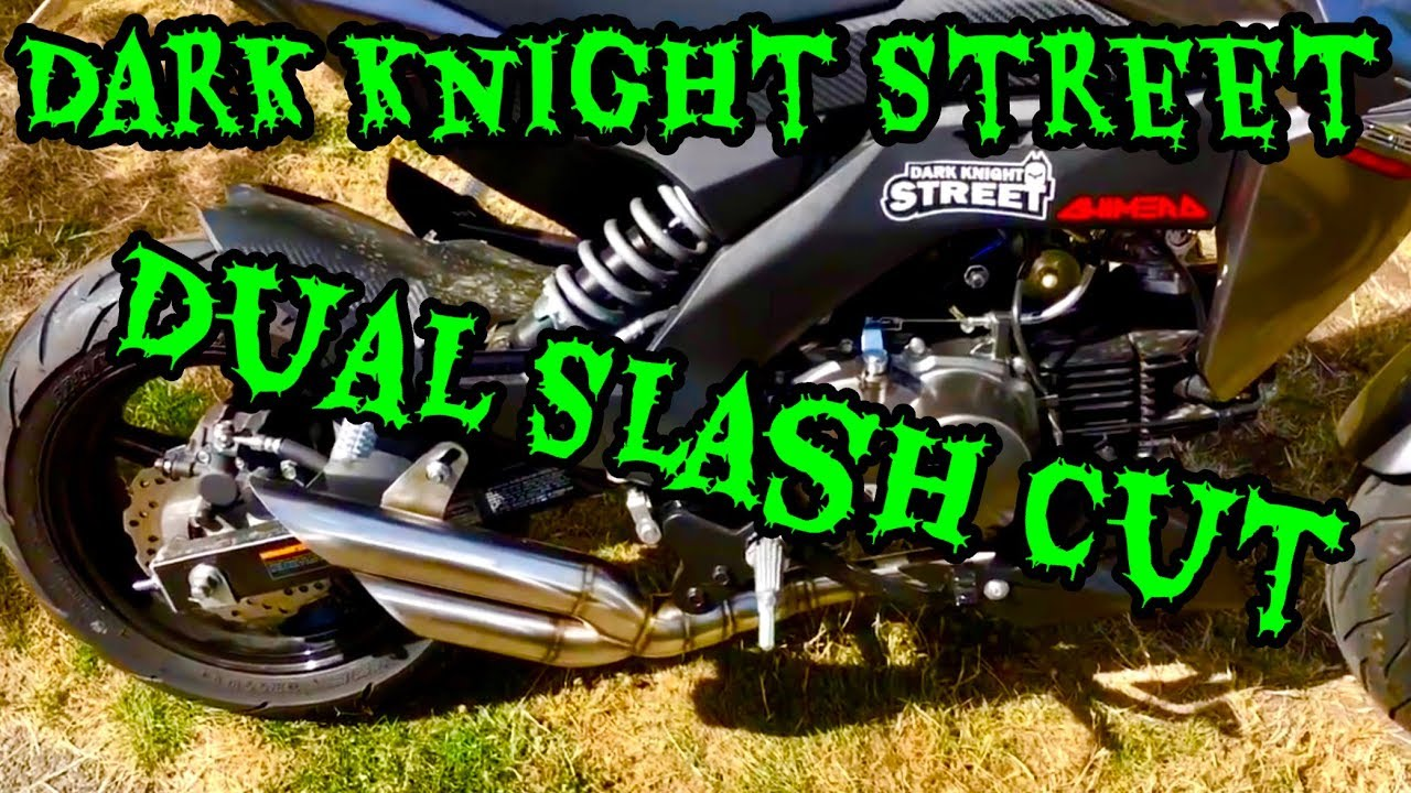 Dark Knight Street Exhaust, Z125 Pro Install and test ride