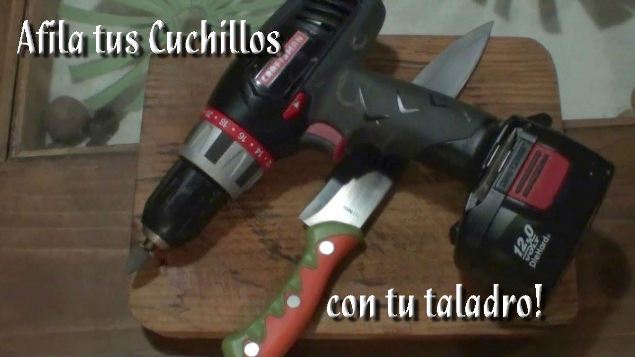 Como afilar tus cuchillos con un taladro youtube for Como pulir un cuchillo