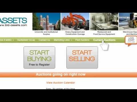 Bid-Assets Surplus Equipment Online Auction Bidding Tutorial Video