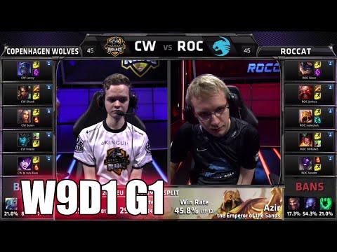 Copenhagen Wolves vs ROCCAT | S5 EU LCS Summer 2015 Week 9 Day 1 | CW vs ROC W9D1 G1